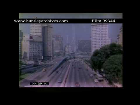 Sao Paulo, Brazil, Traffic in the early 1980's.  Archive film 99344