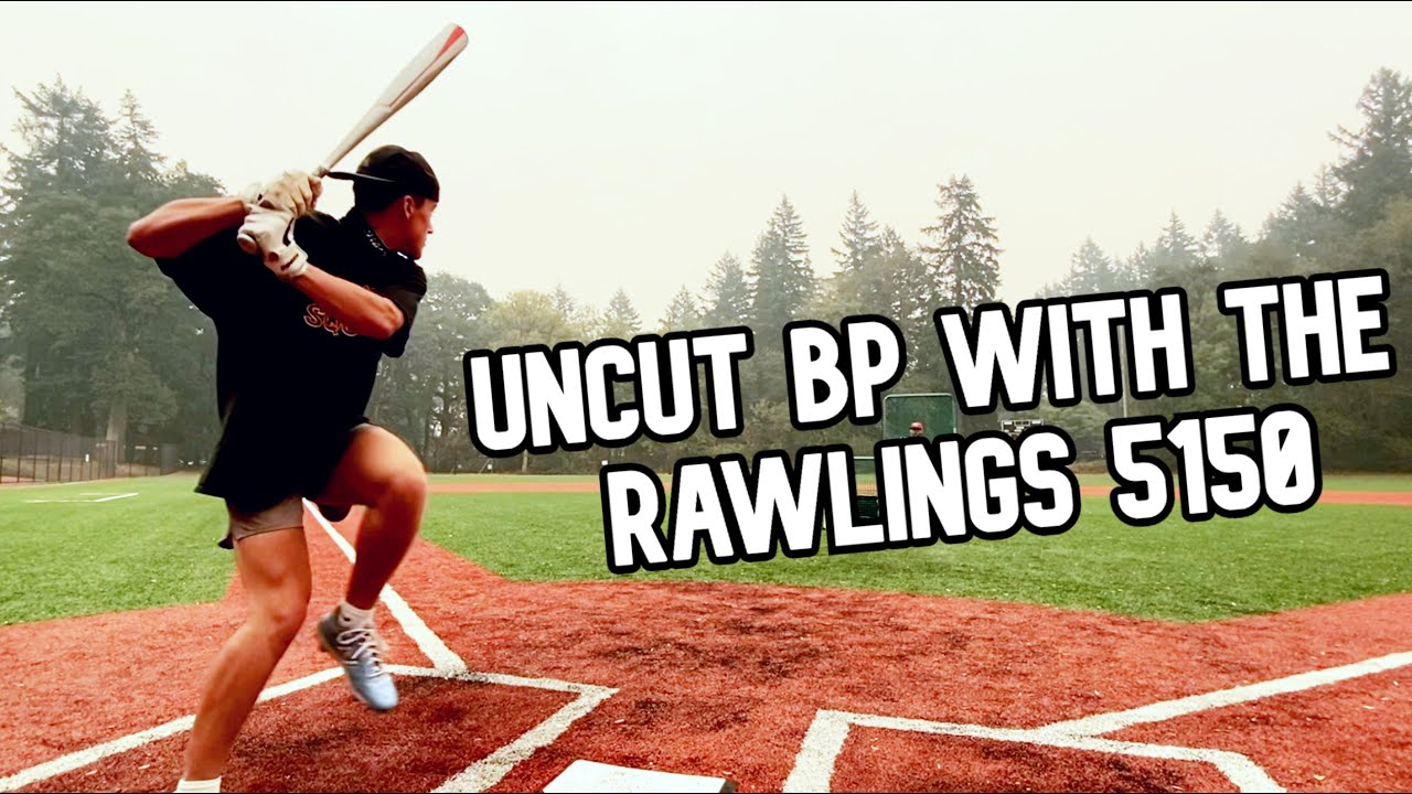 Cam's uncut round with the Rawlings 5150 in 1-Piece Alloy BBCOR Bat Madness