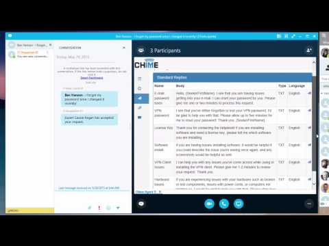 Chime Click To Chat Agent CWE With Skype For Business