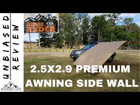 Ridge Ryder Premium 4wd Awning Side Wall 2 5 X 2 9m