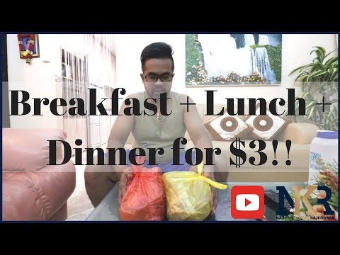 Breakfast + Lunch + Dinner for only $3 in Singapore!!