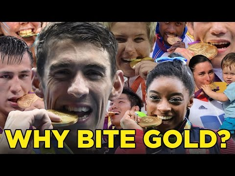 Why do Olympians bite their gold medals?