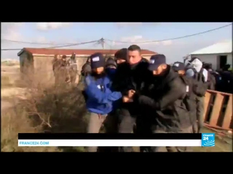 West Bank: clashes erupt between police and Israeli wildcat settlers in Amona