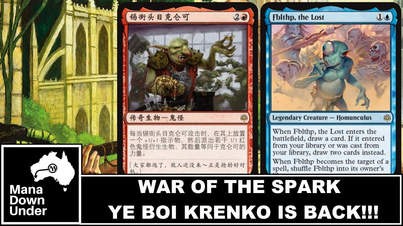 MTG War of the Spark Spoilers - Krenko and Fblthp ARE BACK!!! (New  Commanders)