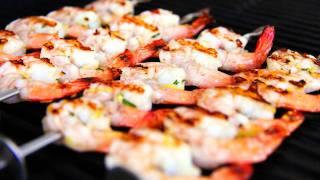 Zesty Lemon & Garlic Prawn Skewers Video Recipe