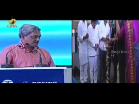 Manohar Parrikar Speech at TATA Boeing Aerospace Company New Unit Launch | Telangana | MangoNews