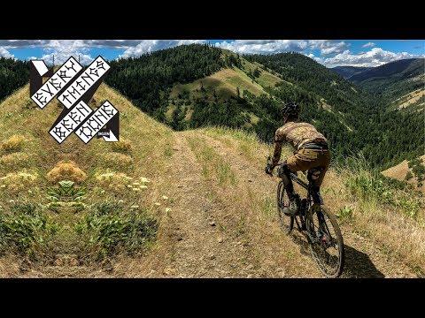 Gravel Bike Ride to Stash Easter Eggs along Mosier Mayhem Route.