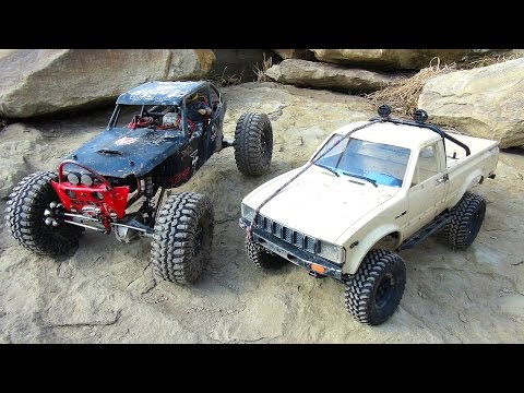 RC ADVENTURES - Black Widow & Trail Finder 2 hit the Rock Pi