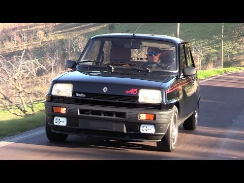 1982 Reanult 5 Alpine Turbo - Action On Hill Road, Sound & On Board