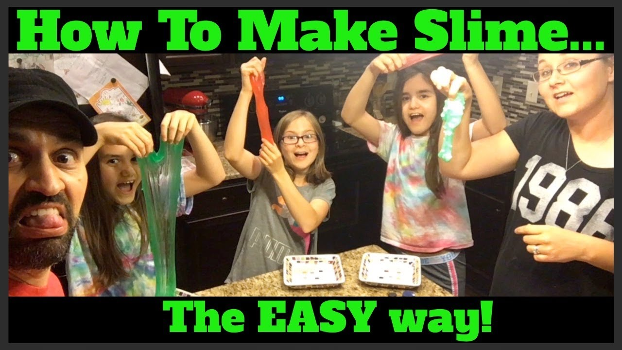 How To Make Slime The Easy Way W Cra Z Art Activator Youtube