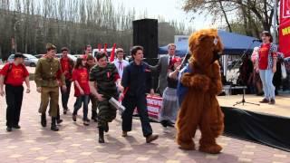 Перформанс – изгнание медведя Едомира из России. 1 мая 2015