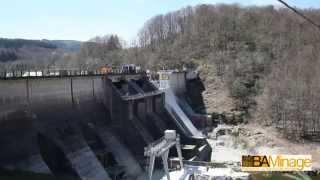 Démolition par minage du Barrage EDF de La Raviège Avril2014