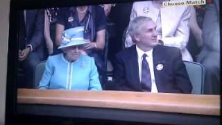 The Queen at the Murray match...