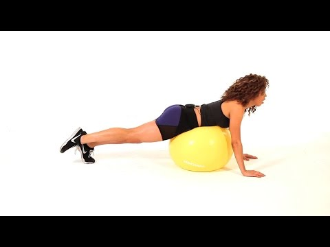 Glute Kickback on Exercise Ball  Sexy Butt