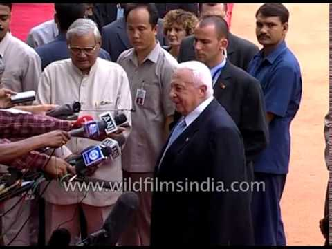 Ariel Sharon, Prime Minister Of Israel Arrives In India In 2003