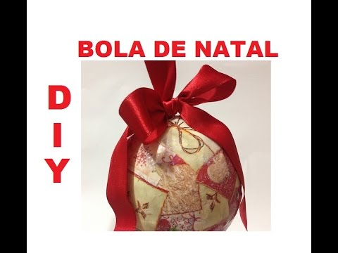 Bolas Natalinas, como fazer? (Christmas balls) - DIY - VIDEO