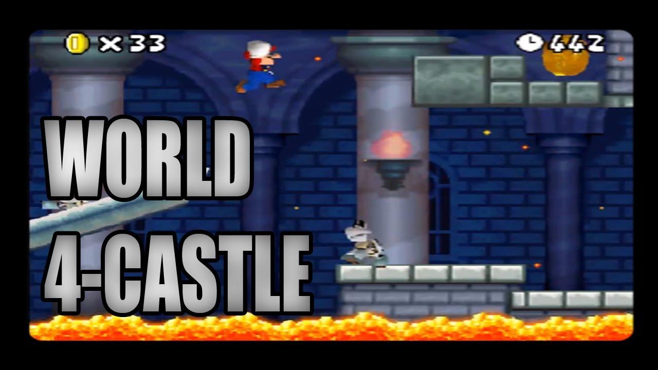 New Super Mario Bros Ds World 4 Castle Youtube