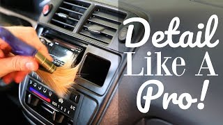 How To Clean Car Interior - BEST TOOLS For Dashboard & Vents!