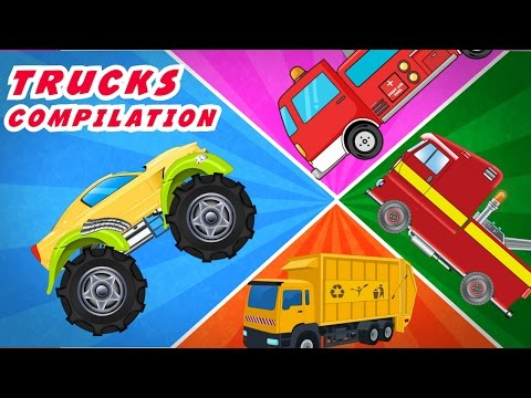 Trucks Compilation | Fire Truck | Monster truck | Garbage Truck | Tow Truck