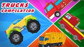 Trucks Compilation | Fire Truck | Monster truck | Garbage Truck | Tow Truck