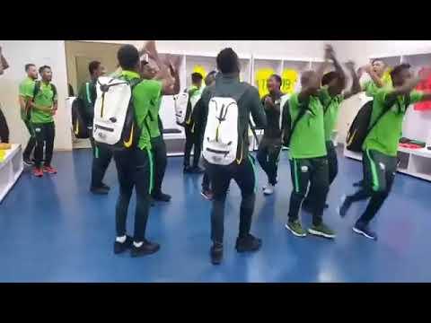 Bafana Bafana singing Masambe Nono