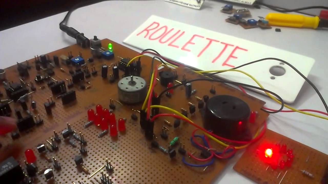 Roulette Using 555 Timer Ic Youtube Four Way Traffic Signal Project
