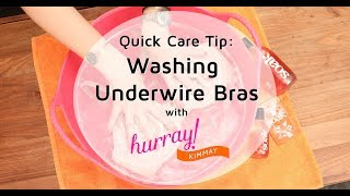 How to Wash Underwire Bras - Quick Care Tip with Hurray Kimmay