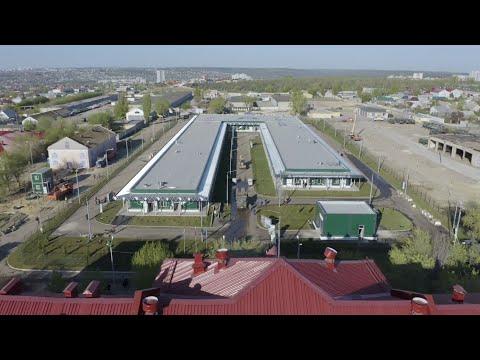 Кадры строительства медцентра Минобороны России в Волгограде