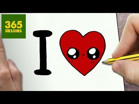 Comment Dessiner I Love Kawaii étape Par étape Dessins