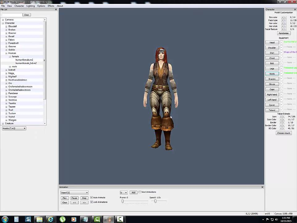 WoW Model Viewer Character Creation Tutorial