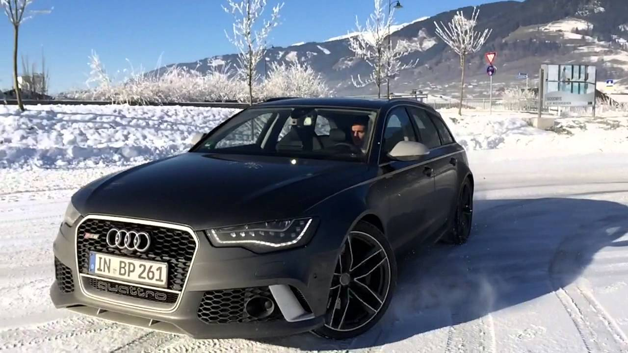 Audi Rs6 Snow Drifting Slo Mo Youtube