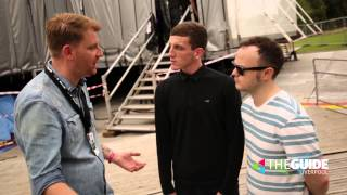 Jay chats to Louis Berry and Peter Guy at LIMF 2015