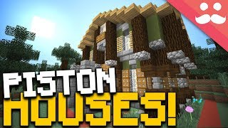 INSANE 1 Chunk PISTON HOUSES in Minecraft!