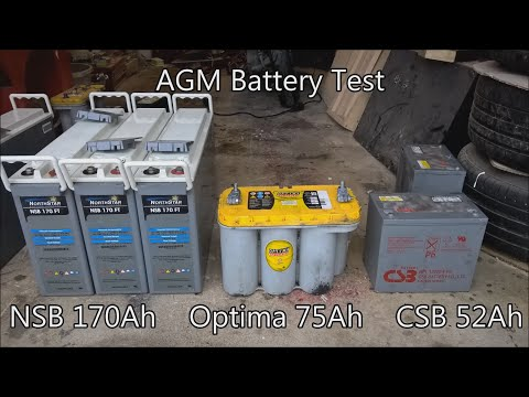 AGM Battery Test - NSB Optima CSB