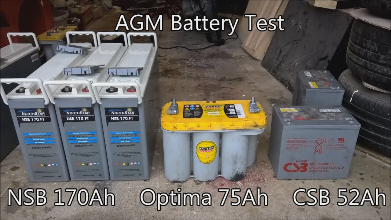 Agm Battery Test Nsb Optima Csb Youtube
