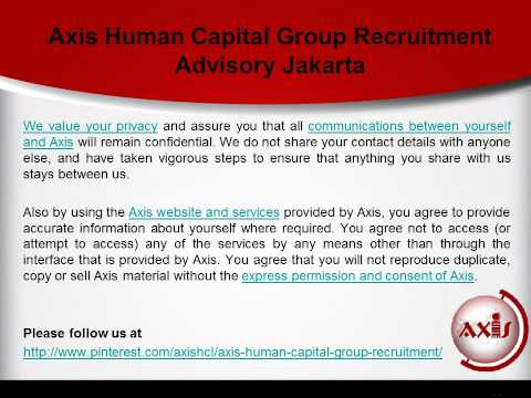 Privacy Policy of Axis Human Capital Group Recruitment Advisory Jakarta