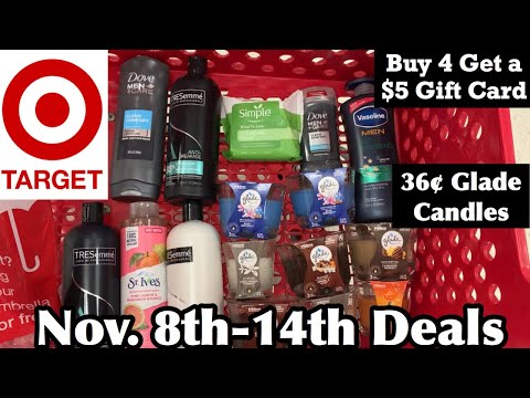 Target Couponing | Nov 8th-14th Deals | 36¢ Glade Candles | 99¢ Dove & More