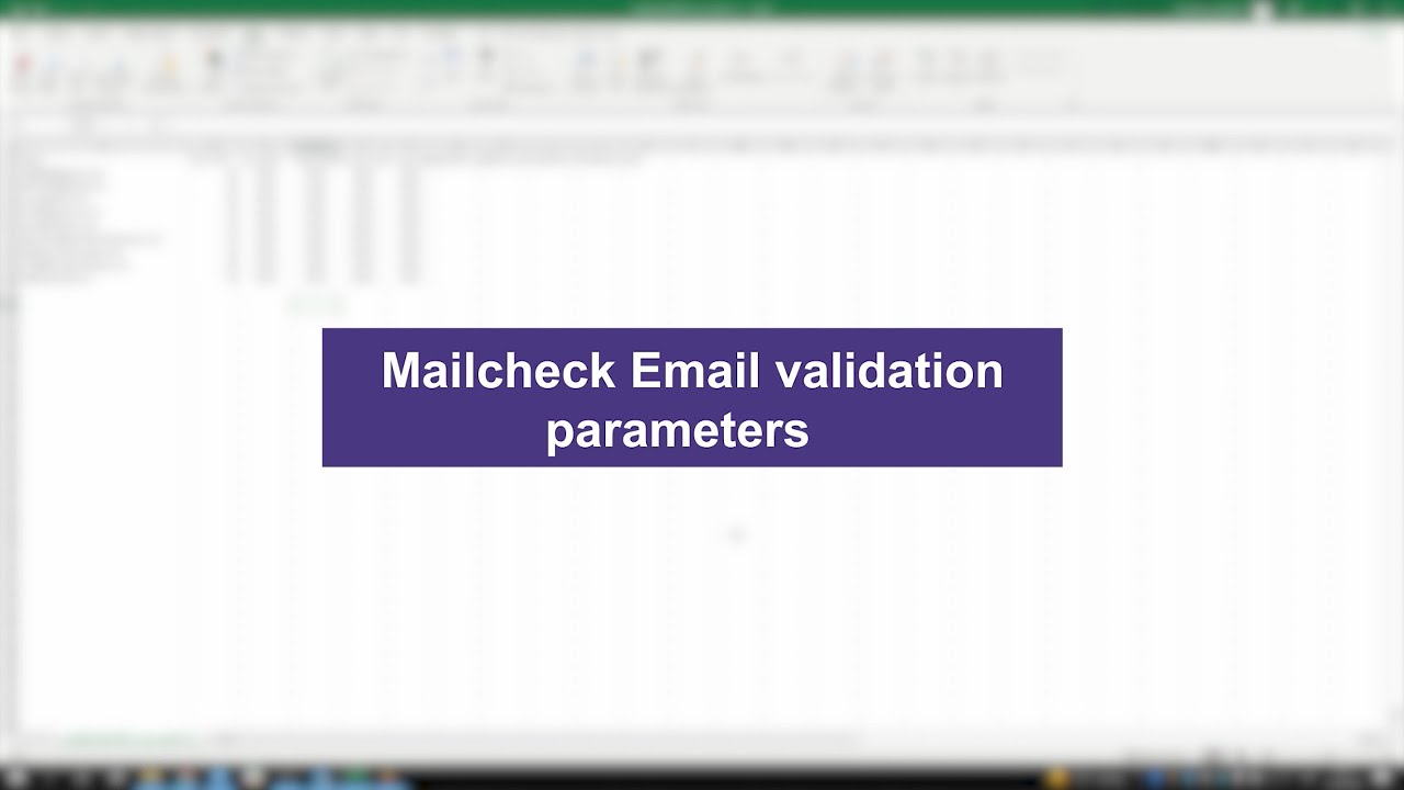 Mailcheck.co email validation parameters