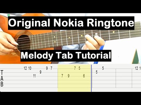 ORIGINAL NOKIA RINGTONE IN GUITAR Melody Tab Tutorial Guitar