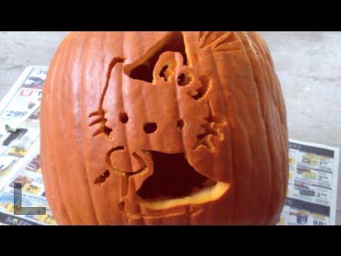 halloween hello kitty pumpkin youtube