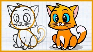 КАК ЛЕГКО НАРИСОВАТЬ #2. Кошка. Рисуем котенка. Каляка.