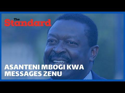 """""""Wale walikua wanasema mimi ni mzae mliskia wapi?"""" Musalia Mudavadi asked as he turned 60"""