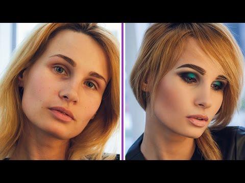 ВЕЧЕРНИЙ МАКИЯЖ в зеленых тонах ✔ Вечерний макияж ДЛЯ ГОЛУБЫХ ГЛАЗ