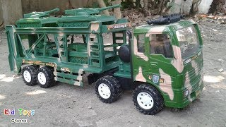 Military transport truck Military vehicle for children & Tanks Toy review