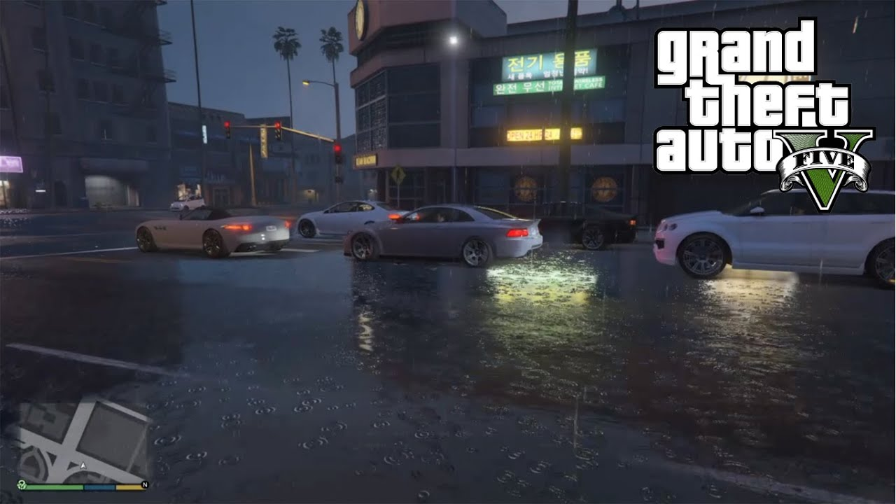 Wallpaper Gta San Andreas Hd Gta 5 Ps4 First Person Heavy Rain Weather Gameplay Gta