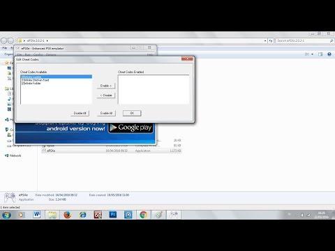 Tips Menggunakan Menu Cheat Codes Pada Emulator EPSXe 2.0.2-1