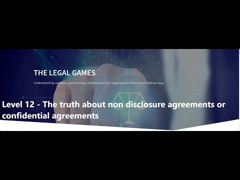 Level 12 - The truth about confidential agreements - The Legal Games - www.thelegalgames.de