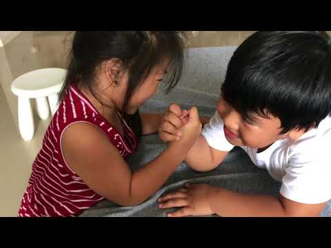 Sofia vs Leon Arm wrestle. See who wins!