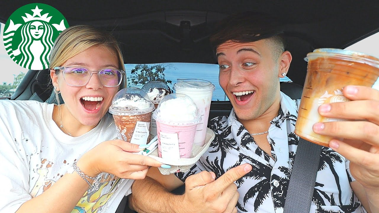 WE TRIED OUR SUBSCRIBERS FAVORITE STARBUCKS DRINKS!!!