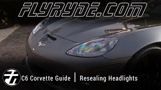 How To: Perfectly Seal a C6 Corvette Headlight after replacing the clear lens!
